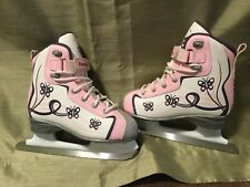 Reebok girl ice skating Shoes boots size 1 Youth pink, white