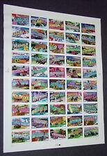 USPS 2002 Greetings from America 50-stamp pane (#3561-3610)