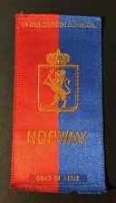 Vintage c1910 Norway Coat of Arms Factory #30 2nd District Va Cigarette Silk