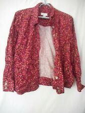 Multicolor Burgundy Size XL unlined top or Blazer Christopher & Banks