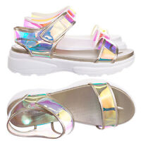 Catch13 Sporty Lucite Clear Sandal - Women Neon Transparent Molded Footbed PVC