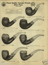 1924 PAPER AD French Brier Smoking Pipe Pipes Sterling Silver Mounting Gold