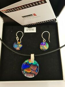Tianguis jackson Glass Pendant And Earrings Set