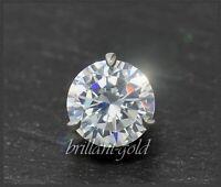 Brillant Diamant 585 Gold Anhänger 1,25ct, River, Si; 14 Karat Weißgold Gleiter