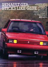 1987 Renault Alliance GTA - Red - Original Classic Vintage Advertisement Ad D74