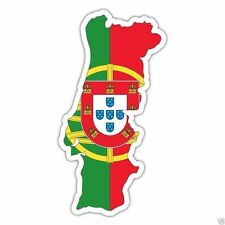 Autocollant Sticker drapeau PORTUGAL CARTE PORTUGAIS  flag vinyle voiture moto