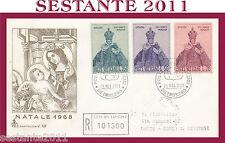 VATICANO FDC CAPITOLIUM V 62 1968 NATALE CHRISTMAS NOEL NAVIDAD  (343)