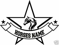 Horse Arabian Personalize Equestrian Trailer Decal 14""