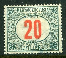 HUNGARY; 1915-18 early Postage Due issue fine used value 20f.