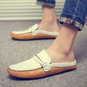 Men's Spring Summer Breathable Loafers Slip On Mule Slippers Casual Flats Shoes