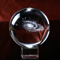 3d Milky Way Galaxy Crystal Glass Ball Modern Solid Large Crystals Home Decor