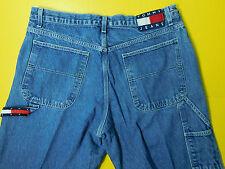 Vtg 90's Tommy Hilfiger Carpenter Jeans Women's Size 15/28 Big Flag Logo