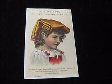 1800's W.T. Wilson Furniture Carpets Sewing Machines  Victorian Trade Card