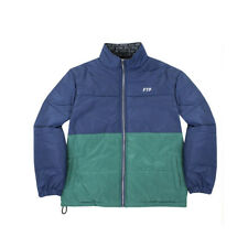 FTP Two Tone Puffer Jacket Navy Forest Large