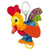 Lamaze CLIP & GO BARNYARD BOB THE ROOSTER Baby Stroller Activity Soft Toy BN