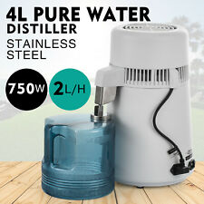 Home Countertop Water Distiller Pure Water Machine Stainless Steel 4L 750W 2L/H