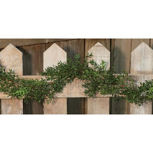Farmhouse Country Primitive NEW ENGLAND BOXWOOD GARLAND Floral 6 ft.Greenary