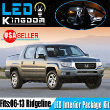 18X For 06-13 Honda Ridgeline Car Interior & Tag LED Light Package Kit White 12V