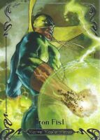 2018 Upper Deck Marvel Masterpieces Base Set Card #44 Iron Fist /1499