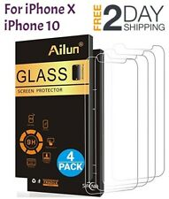 iPhone X iPhone 10 Tempered Glass Screen Protector 2.5D Edge Anti-Scratch 4 PACK