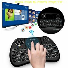HEBREW Reiie H9+ Backlit Mini Touchpad Keyboard for Xbox 360 PS4 HTPC IPTV PC