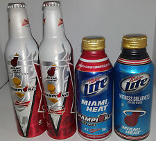 2006 2012 & 2013 Miami Heat Budweiser Championship Limited Edition Aluminum Cans