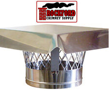 6 in. Stainless Steel Chimney Rain Cap with Mesh Screen - Top Plate Mount