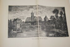 HISTOIRE L'ANTIQUE ET ROYALE CITE DE MORET SUR LOING-ABBE POUGEOIS-1928-PLANCHES