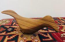 Estate Emil Milan Hand-Carved Small Wood Mid-Century Modern Figure Bird