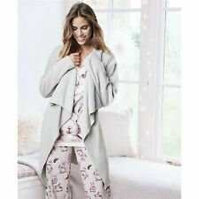 Ladies Womens Pink /& White Love Heart Robe Dressing Gown ~ SIZE 8 10 12 14 18
