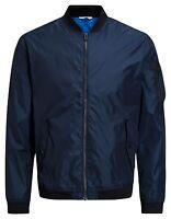 Jack & Jones MA1 Justin Light Weight Bomber Jacket Short Zip Fashion Coat