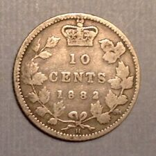 ~1882 H Canada VIctoria 10 Cents - free US shipping