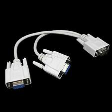 Durable VGA 1 Male to 2 Female SVGA VGA Monitor Video Y Splitter Cable