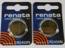 RENATA  Watch Battery  CR2450N Lithium 3V  Swiss Made  2Pc