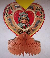 Antique Vintage Valentine Pop Up - Stand Up Heart Card My Sweet Valentine Usa