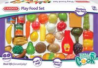 Casdon PLAY FOOD SET Little Cook Plastic Pretend Food Role Play Toy/Gift  BN