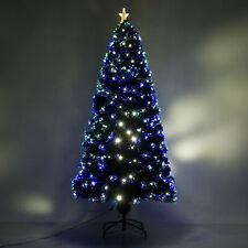 6ft Pre-Lit Fiber Optic Artificial Christmas Tree Led Lights Decorations