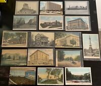 Lot of 16 Original Vintage Postcards - Indiana - Indianapolis, Gary, Muncie +