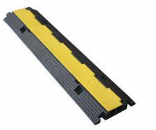 Protector de cables de caucho de doble via. Pasacables de suelo doble via 100x25