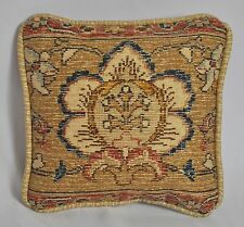 "MINI 9"" Pillow made w Ralph Lauren Northern Cape Rug Floral Tapestry Fabric NEW"