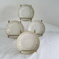 "Vintage Haviland GDA Tiny Pink Rosebuds Green Wreath 4 Small Bowls 5"" Diameter"
