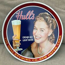 Exc.Vtg Hull's Cream Ale Light Beer Tray, The Hull Brewing Co, New Haven CT