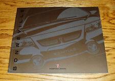 Original 2000 Pontiac Bonneville Deluxe Sales Brochure 00 SE SLE SSEi