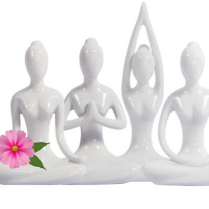 "Set Meditation Yoga Statue Figurine Yoga Pose Zen Lotus Buddha Statue Gift 4.25"""