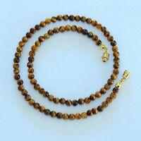 Tiger Eye Necklace 4mm Tiger's Eye Beads 4 mm Brown Tigers Eye Beads