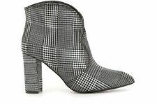 Tosca Blu HLF833 Ankle Boot Camperos Fabric Tartan Scottish