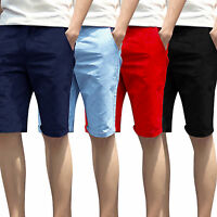 Mens Chino Shorts Summer Cotton Work Casual Half Pant by Stallion