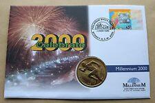 MILLENNIUM 1999 AUSTRALIA 2000 CELEBRATE COVER + AUSTRALIA SYDNEY 2000 $5 COIN