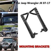 """52"""" LED Work Light bar Steel Upper Mounting Brackets For 07-17 Jeep Wrangler JK"""