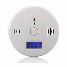 Smoke Alarm LCD CO Carbon Monoxide Detector Poisoning Gas Warning Sensor Monitor
